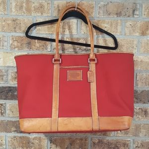 Coach   Leather and Canvas Satchel